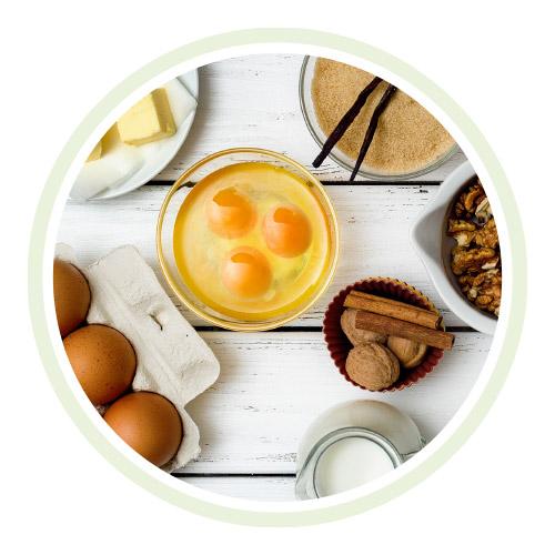 Produktbild der Jughennen-Eier-Aktion zur Weihnachtsbäckerei auf Naturahof.ch